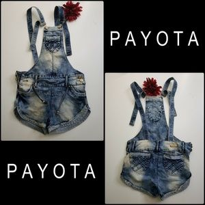 Payota Summer Women Shorts Jeans Denim Overalls